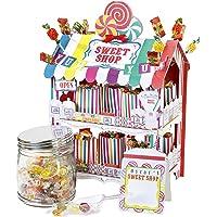 Street Stalls Talking Tables Étal de Bonbons à 2 Étages, Stand de Friandises pour Anniversaire, Fête d'Enfants, Enfant, Goûter Festif, Mariage et Festivités, Multicolore