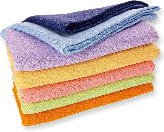 10 trapos de tela gasa Multicolor 100% algodón 80 x 80 cm: Amazon ...