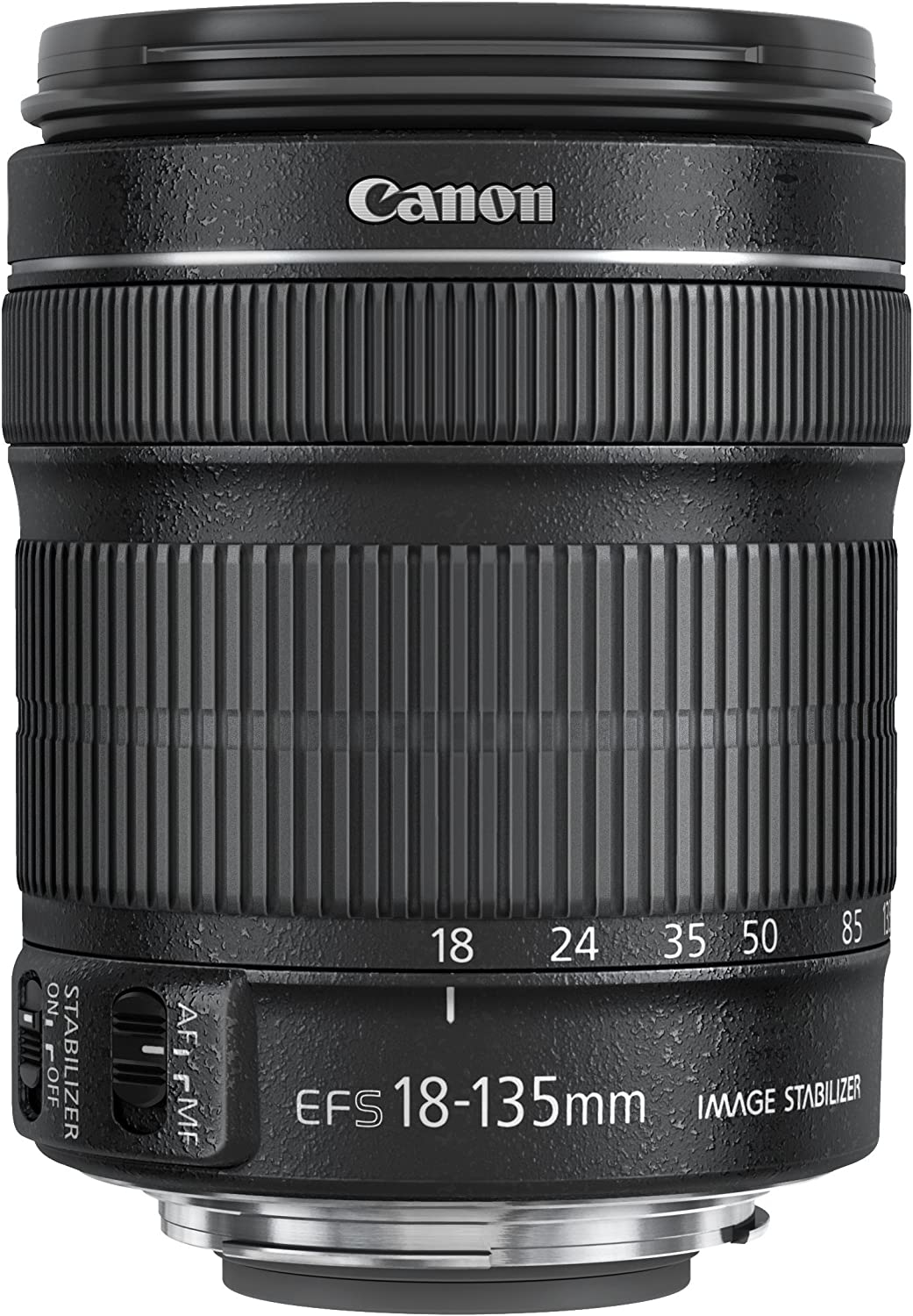 with 1-Year Canon USA Warranty Canon EF-S 18-135mm f//3.5-5.6 is STM Lens in White Box