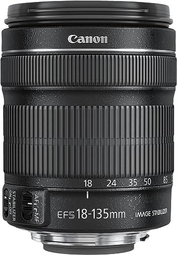 Canon Objektiv EF-S 18-135mm F3.5-5.6 IS STM Zoomobjektiv Lens für EOS (67mm Filtergewinde, mit STM-Technologie, Bildstabilisator, Autofokus) schwarz