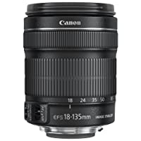 Canon EF-S 18-135 mm f/3.5-5.6 IS STM Lens, Black