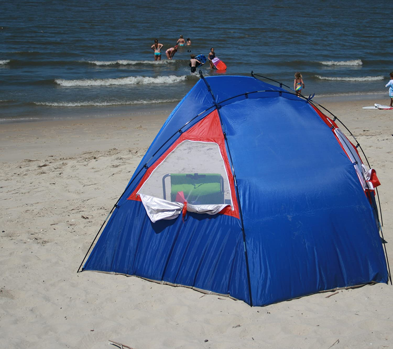 Stakes Rio Total Sun Block Plage//Jardin Kids Sun Shelter Léger Portable