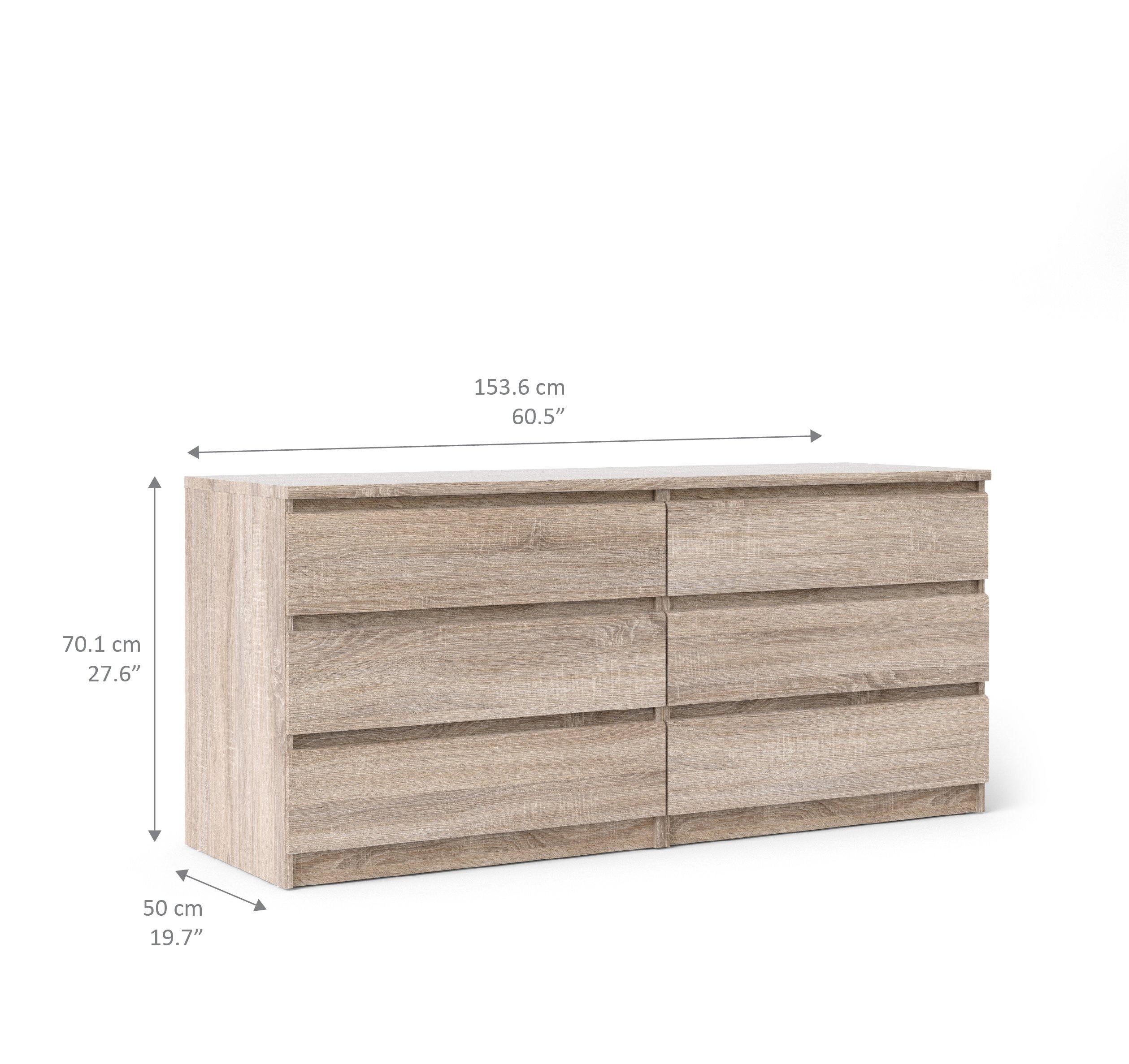 Tvilum 70296cj Scottsdale 6 Drawer Double Dresser, Truffle by Tvilum