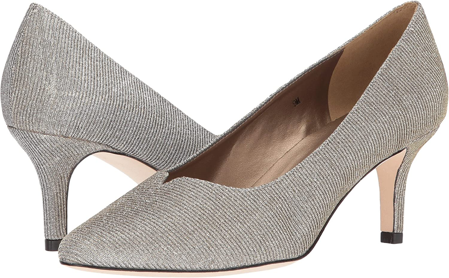VANELi Women's Linden Pumps Shoes B01N9TG69T 8 B(M) US|Platinum Nizza Fabric