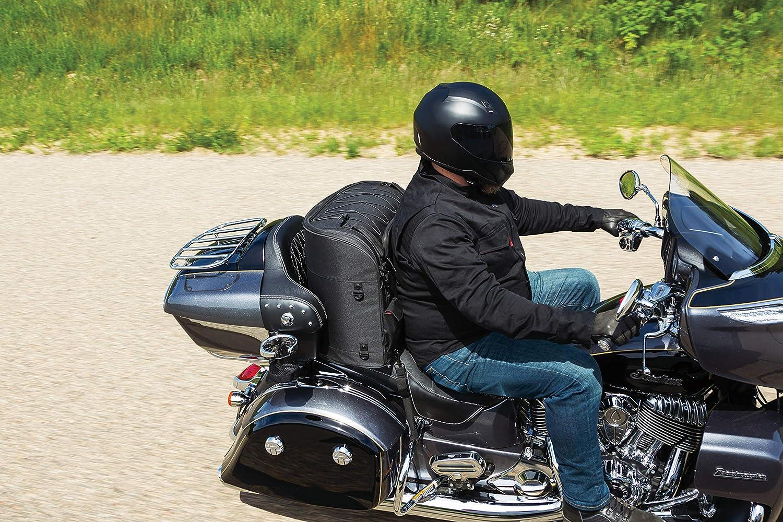 Black Kuryakyn 5286 Momentum Wanderer Motorcycle Travel Luggage Weather Resistant Touring Seat Bag