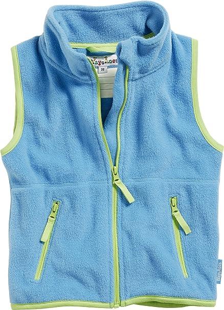 Playshoes Baby Fleece-Weste, ärmellose Unisex-Jacke für Mädchen und Jungen mit Reißverschluss und Kontrastnähten