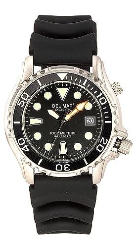 EMTECH la costa 50251 1000 M reloj de buceo profesional con válvula de helio negro y Dial Negro Correa de caucho: Amazon.es: Relojes
