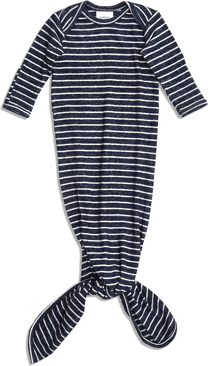 aden by aden anais Snuggle Knit Knotted Gown Rosettes
