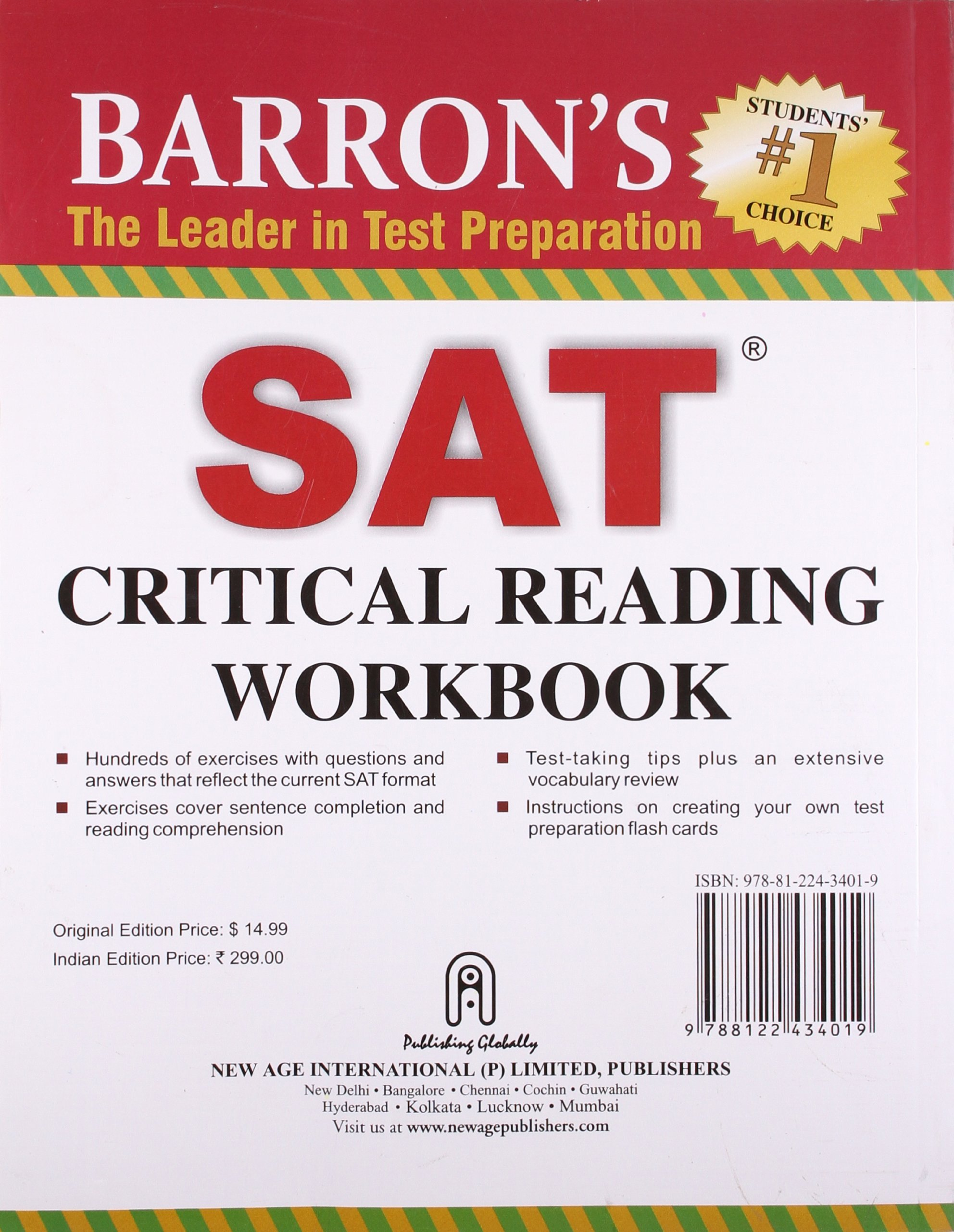 Buy barrons sat critical reading workbook book online at low buy barrons sat critical reading workbook book online at low prices in india barrons sat critical reading workbook reviews ratings amazon reheart Images