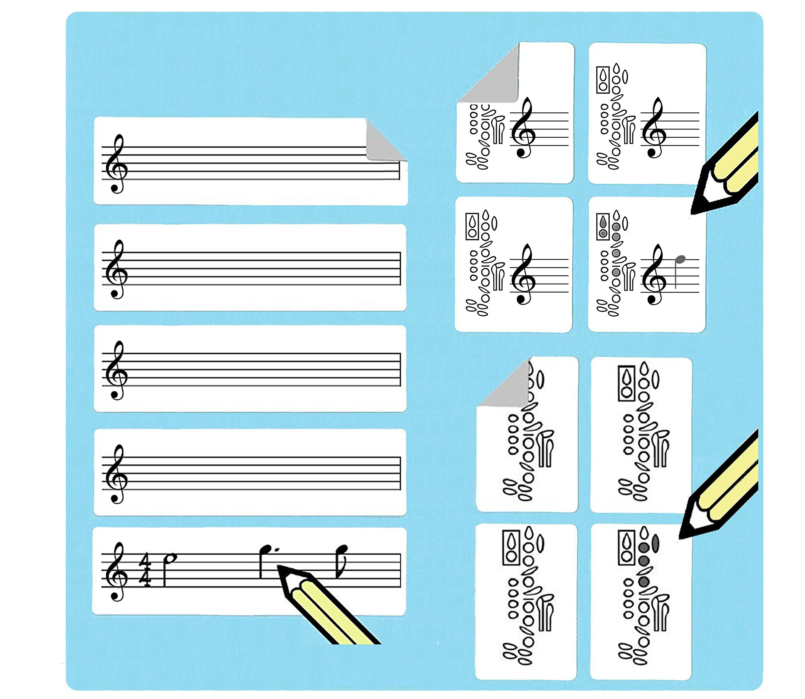 Clarinet Fingering Stickers Multipack (420 handy stickers) Great for beginners and teachers!