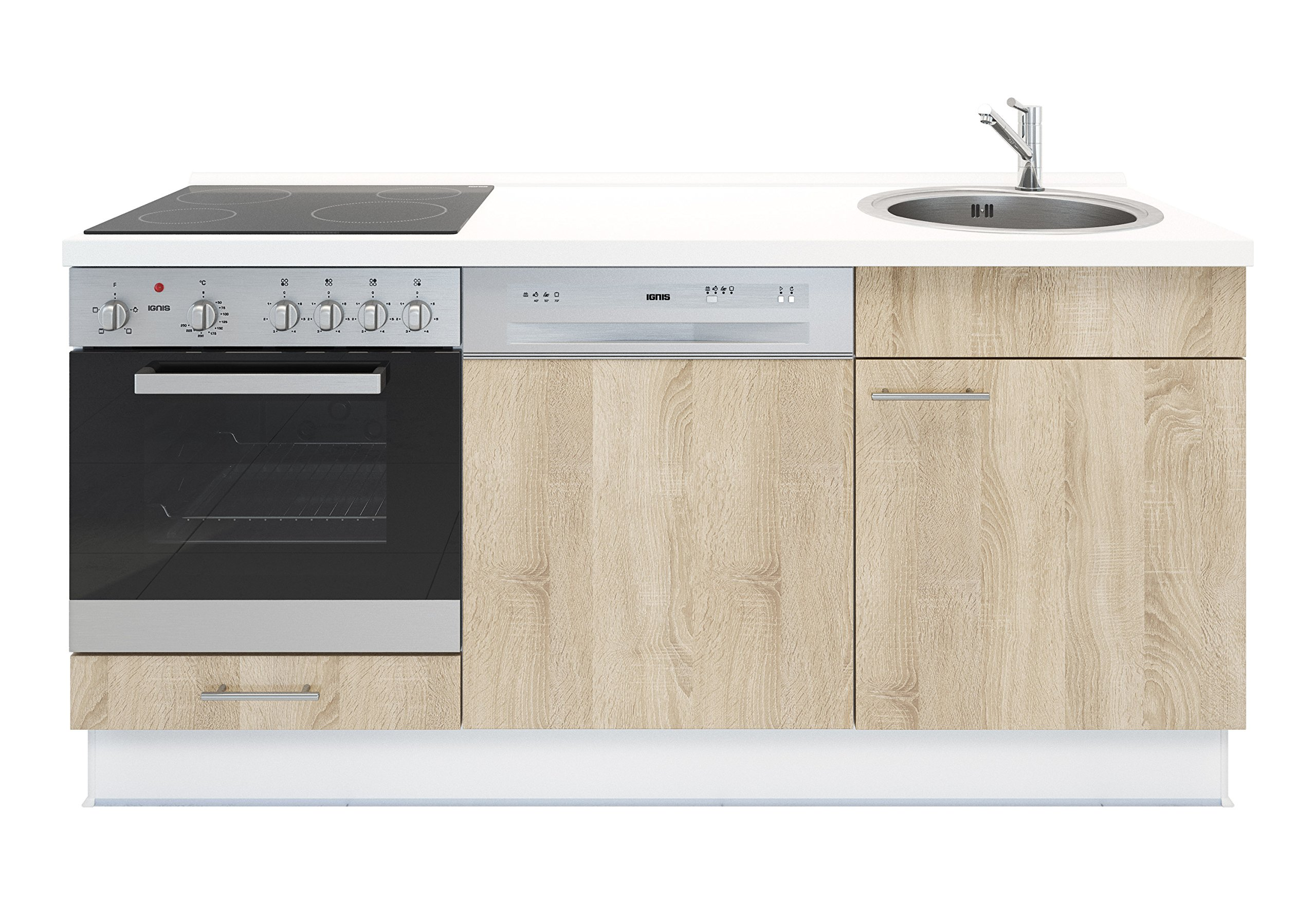 Miniküche Mit Kühlschrank Und Geschirrspüler : Miniküche mit geschirrspüler spüle ofen kochfeld arbeitsplatte