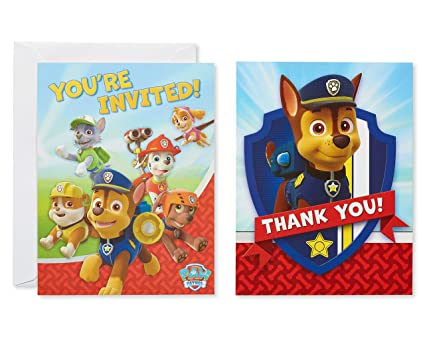 Amazon American Greetings Nickelodeon Paw Patrol Invite And