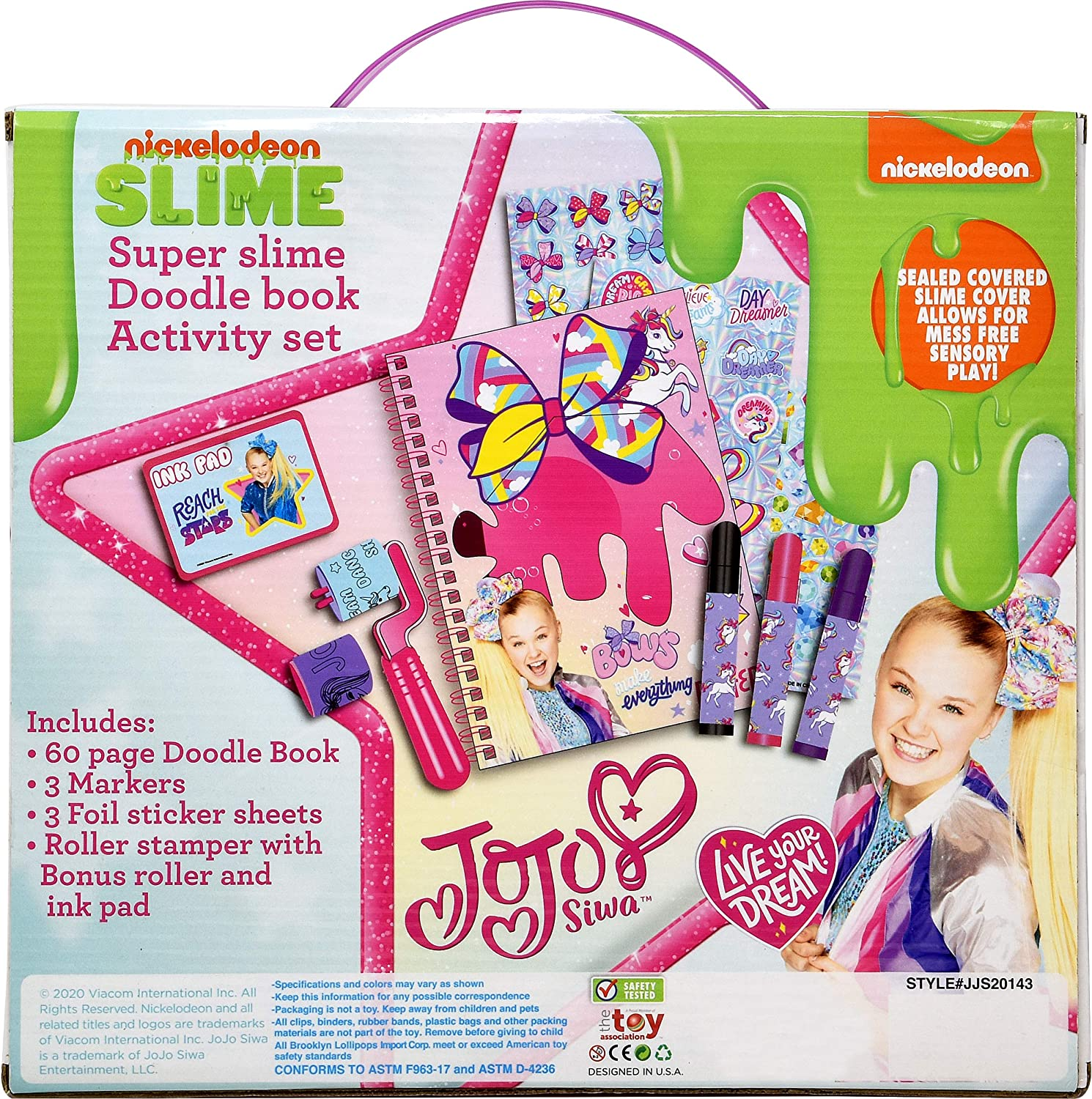 Gift Boutique JoJo Siwa Diary Journal Activity Set Slime Drawing Art Sketch Book Bookmark