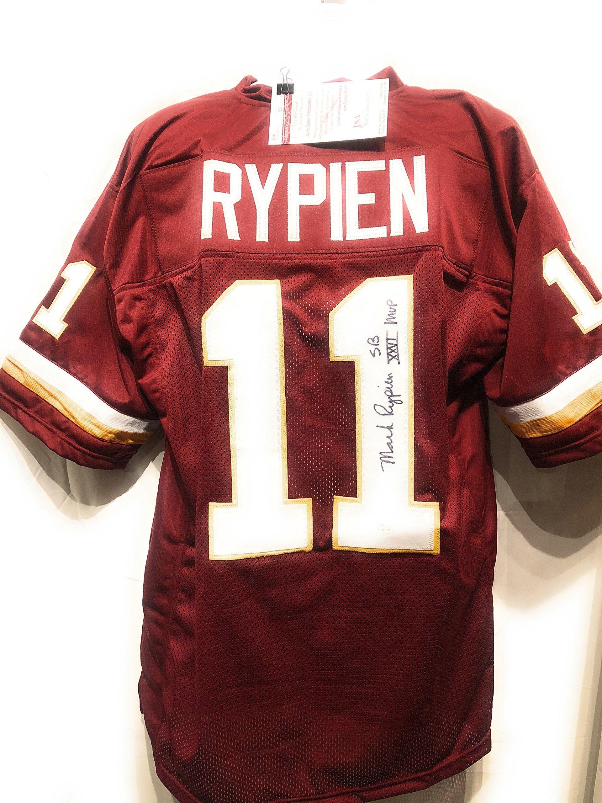 Mark Rypien Washington Redskins Signed Autograph Custom Jersey JSA Witnessed Certified