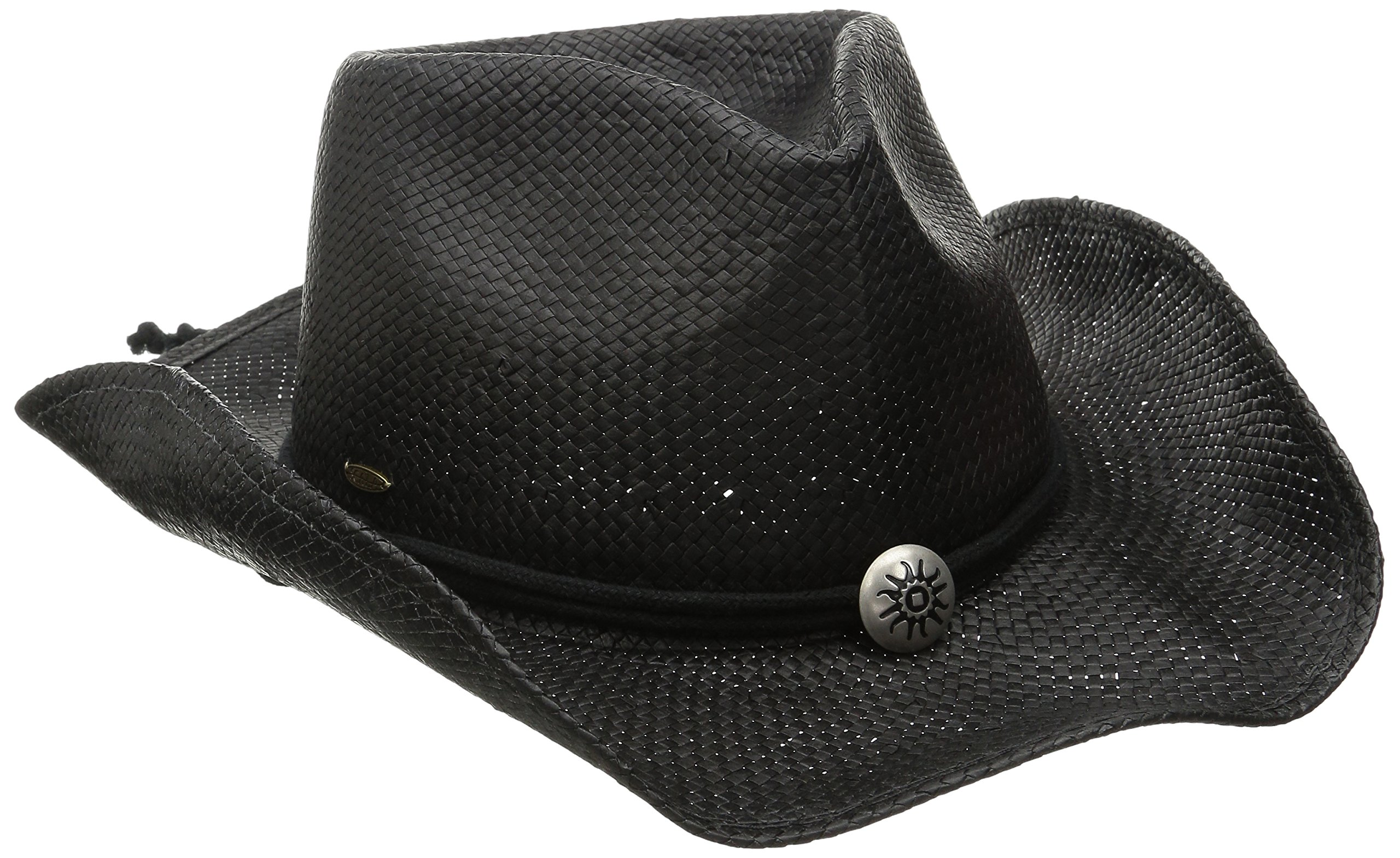 SCALA Women's Shapeable Toyo Western Hat, Black, Small/Medium by SCALA