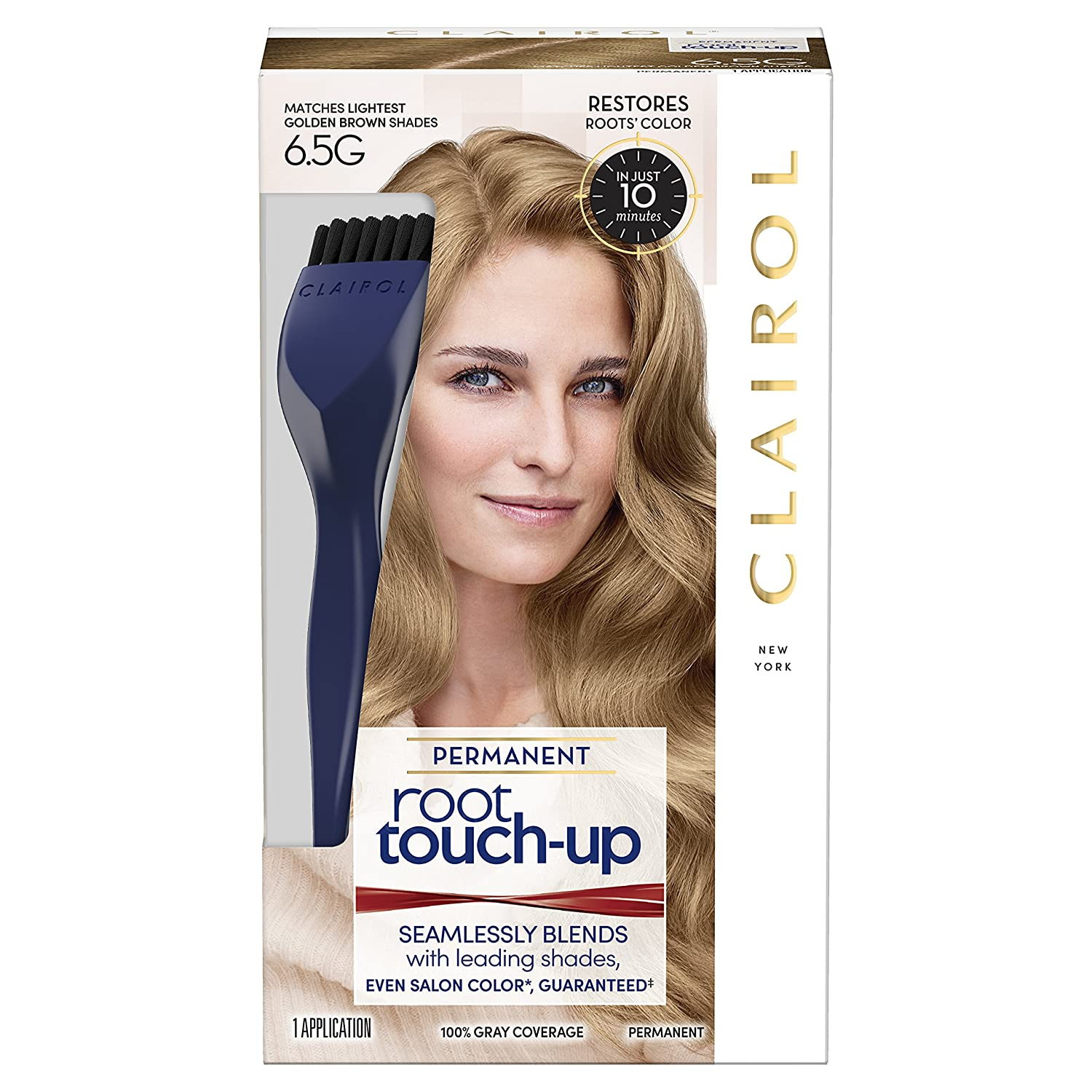 Clairol Nice 'n Easy Root Touch-Up 5G Kit (Pack of 2) Matches Medium Golden Brown Shades of Hair Coloring, Includes Precision Brush Tool NA
