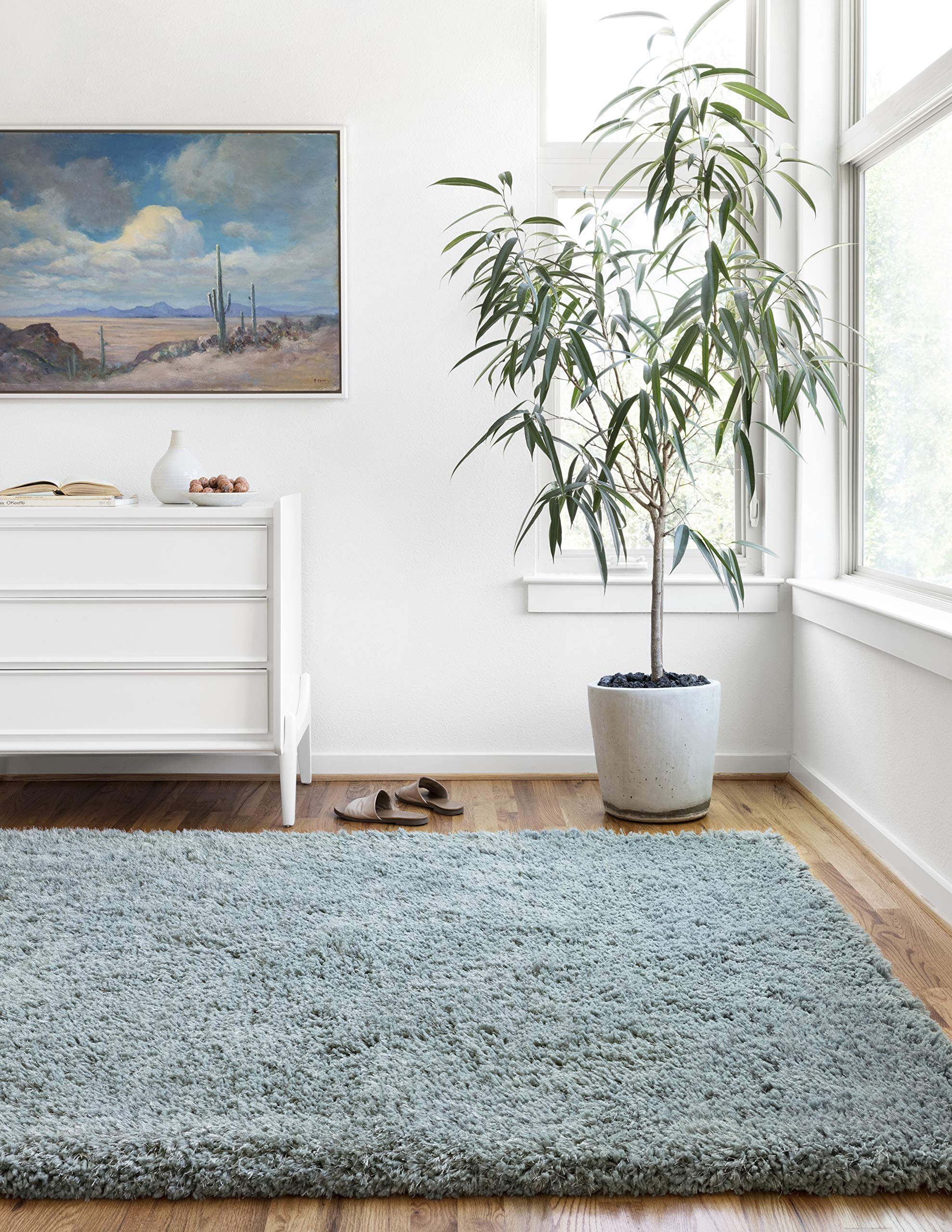 Loloi MMILMIL-01SPA02339 Mila Shag Collection Area Rug, 2'3'' x 3'9'', Spa
