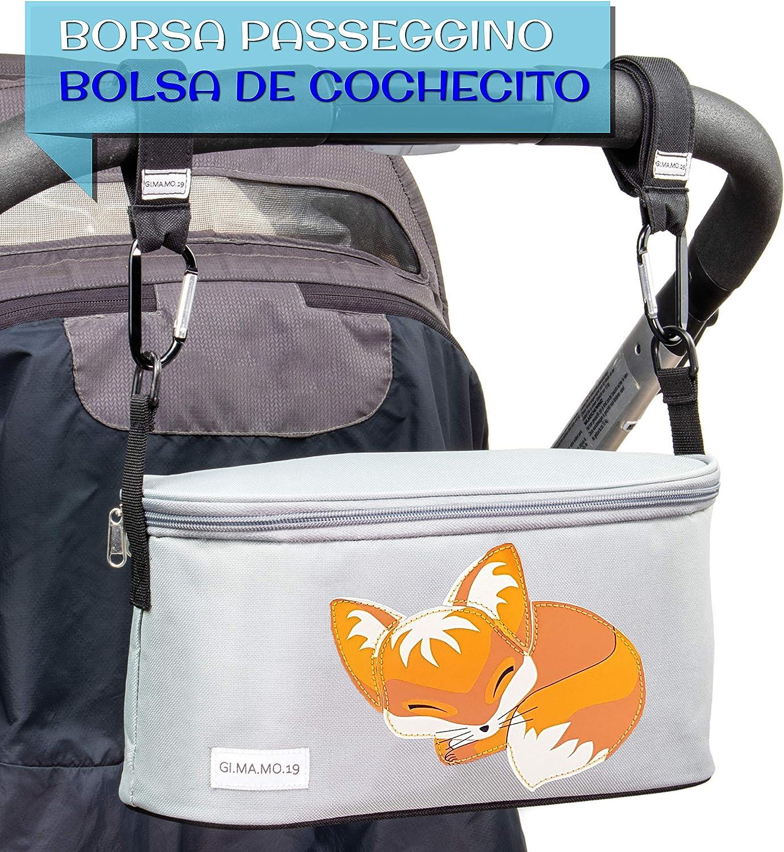 Nueva Universal Bolso Bebe Con Tapa Cremallera Con Ganchos Correa De Hombro Ajustable Organizadora Para Carro Cochecito Doble Silla Bolsa Carro Bebe Cambiador Primera Infancia Accesorios Maternidad