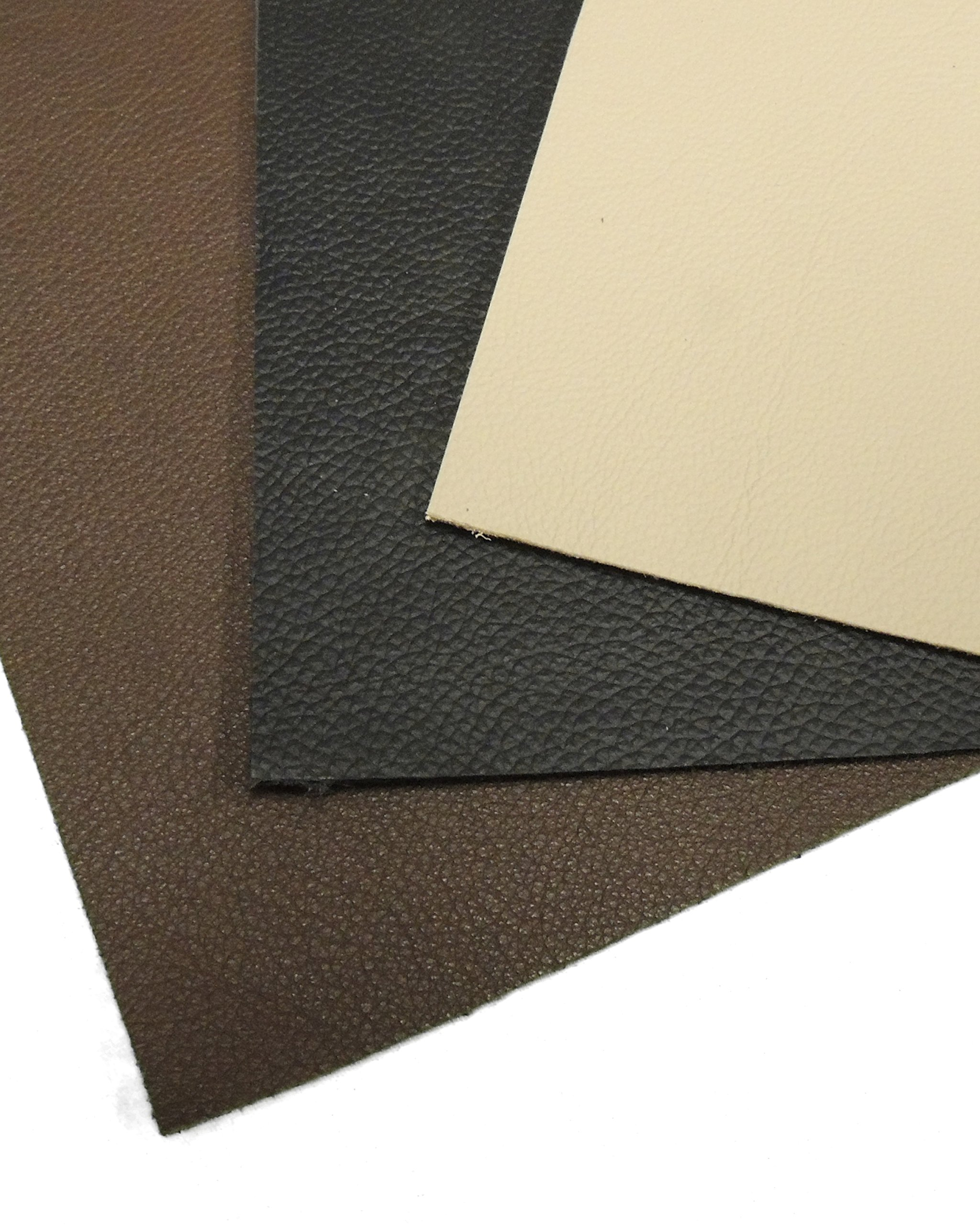 ALL PURPOSE ADHESIVE BACKED GENUINE LEATHER SHEET 8.5'' X 11'' (AVAILABLE IN 3 COLORS) (BLACK)