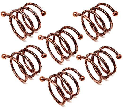 CherryTreeHouse - Juego de 6 servilleteros en espiral con diseño ...