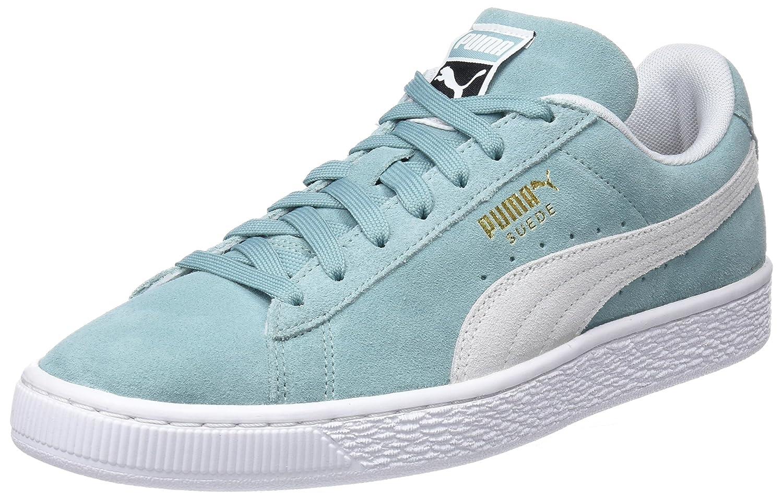 Puma Unisex-Erwachsene Suede Classic Sneaker, Grün (Aquifer-puma Weiß)