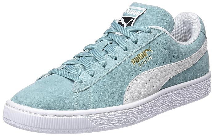 Puma Suede Classic Sneaker Damen Herren Unisex Wildleder Grün (Aquifer)