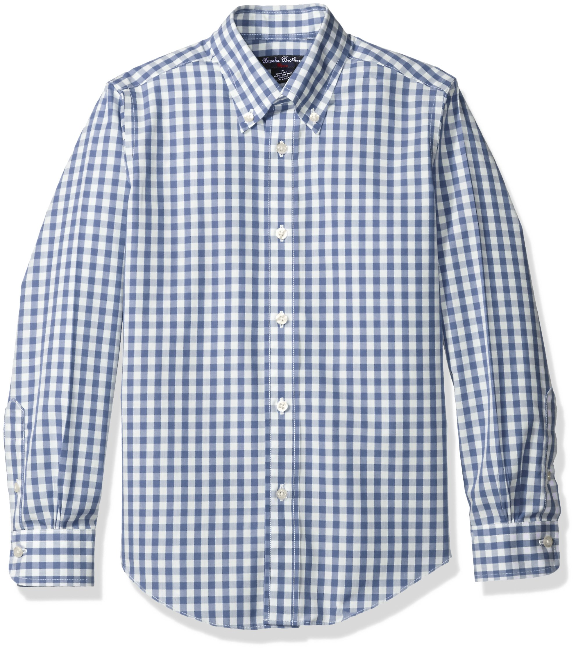 Galleon brooks brothers big boys 39 non iron gingham sport for Brooks brothers boys shirts