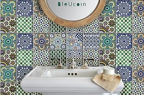 Piastrelle adesivo: cucina bagno marocchino mattonelle decalcomania