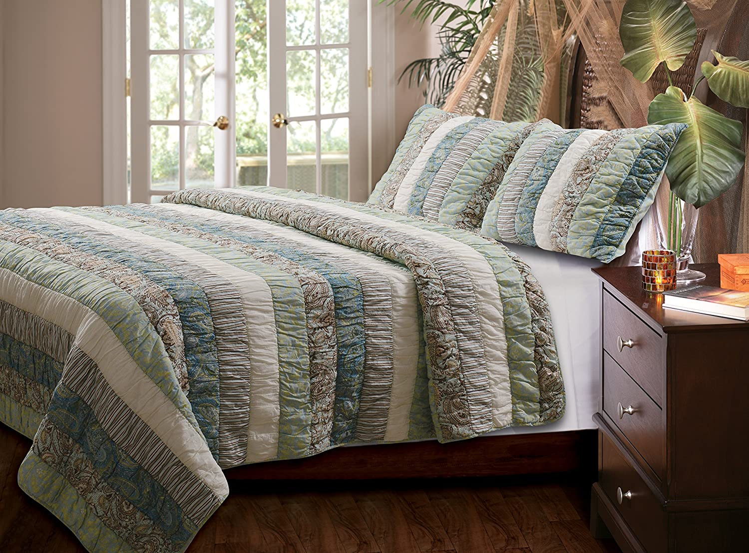 Greenland Home 3-Piece Paradise Quilt Set, King