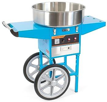 VIVO Blue Electric Commercial Cotton Candy Machine Cart