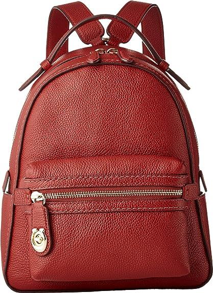 Coach Campus 23 sac à dos en cuir rouge Pebble Red leather: Amazon ...