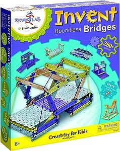 "Creativity For Kids Spark!Lab Smithsonian ""Invent Boundless Bridges"" Building Set"