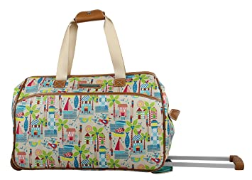7fbb75be9166 Image Unavailable. Image not available for. Color  Lily Bloom Luggage  Designer Pattern Suitcase Wheeled Duffel ...