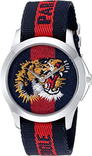 Amazon.com: Gucci Quartz Stainless Steel and Nylon Casual Two-Tone Men's  Watch(Model: YA126495): Gucci: Watches