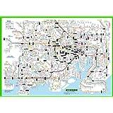 「都市部路線図1」東京(関東、首都圏)【ふりがな付き鉄道路線図】東京周辺のJR、私鉄、地下鉄の全路線、全駅を掲載