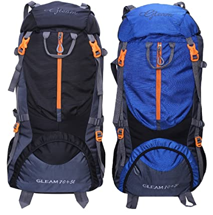 e576595c50 Image Unavailable. Image not available for. Colour  Gleam 0109 Climate  Proof Mountain 75 ltrs Black   Royal Blue Rucksack Backpack with Rain Cover
