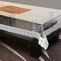 STITCHNEST PVC Table Cover Transparent, Table Cover