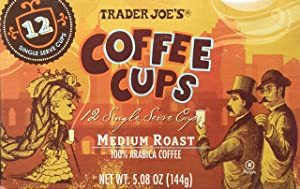Trader Joe's Coffee Cups - Single Serve - Medium Roast Arabica Coffee