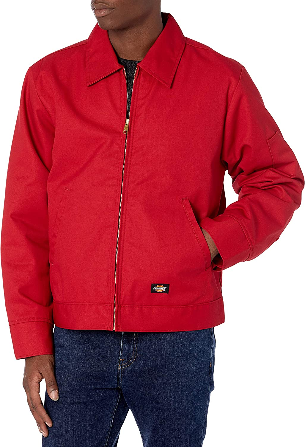Dickies Men's Insulated Eisenhower Front-Zip Jacket at  Men's Clothing store