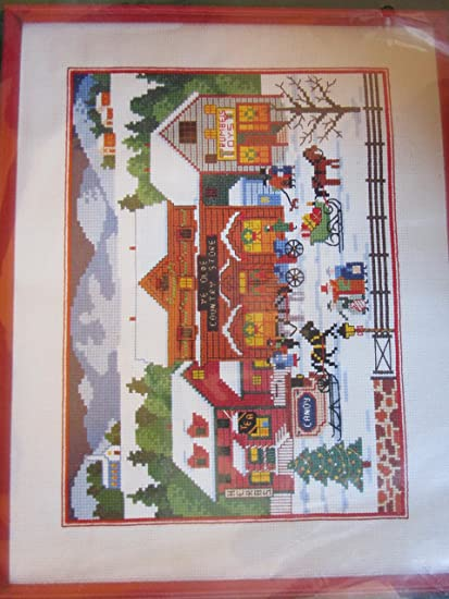 Amazon com: Dimensions Cross Stitch Christmas Village Charles