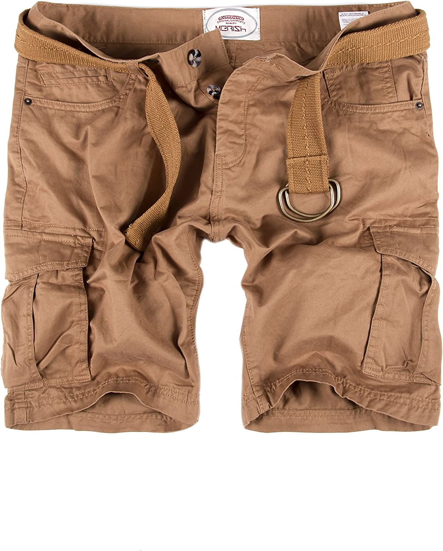 Pantaloncini Corti Jeans Denim Shorts Pantaloncini Pantalone Bermuda con Cintura con Tasche sulle Gambe J65 Merish Pantaloni Uomo Pantaloncini Cargo