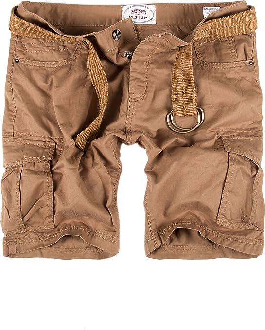 TALLA 30W / 32L. MERISH Hombre Pantalones Cortos Cargo Short con la Correa con Bolsillos en Las piernas Moderno y Casual, días de Calor Modell J65