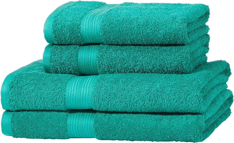 Basics AB Fade Resitant Gr/ün 100/% Baumwolle 2 Bath /& 2 Hand