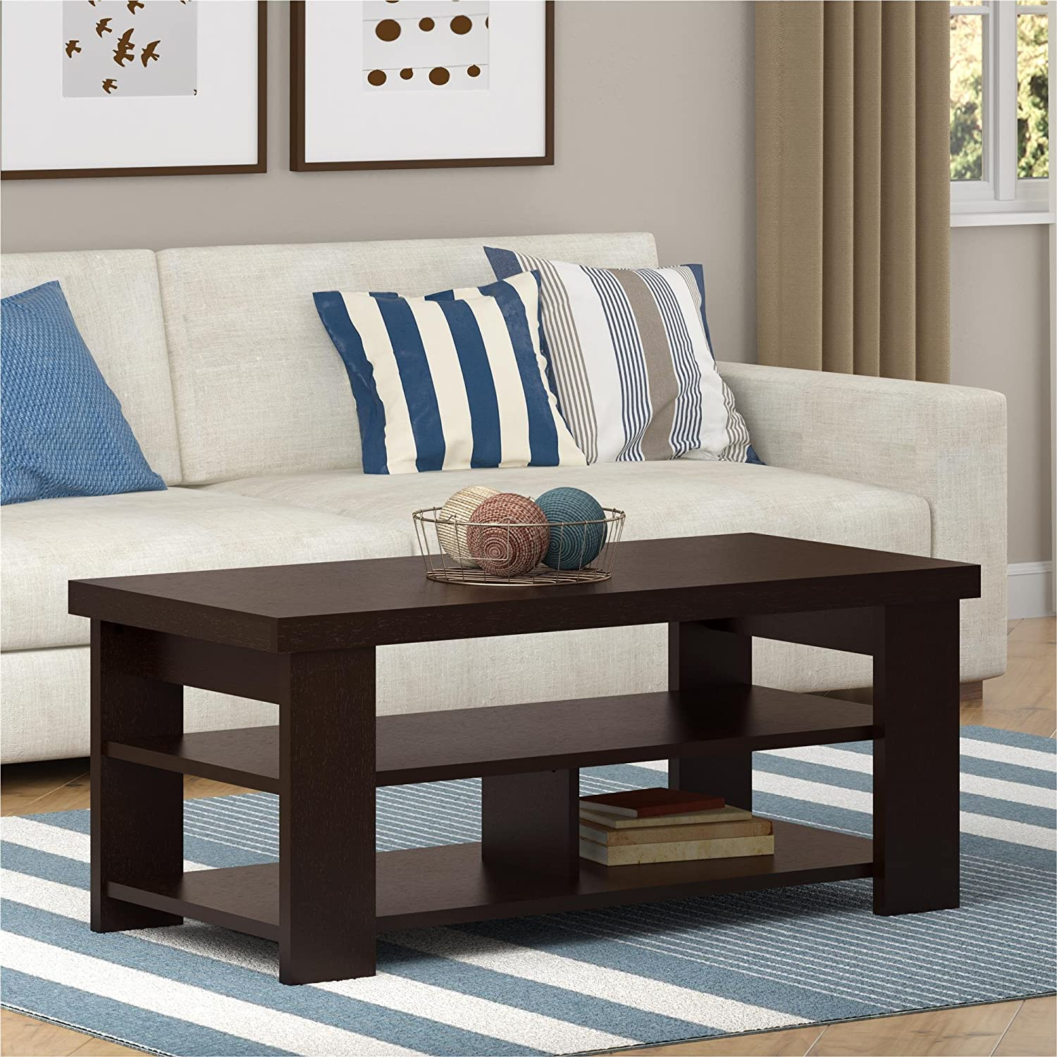 Amazon Ameriwood Home Jensen Coffee Table Espresso Kitchen