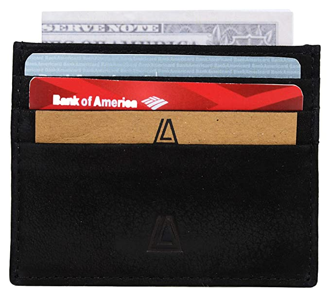 cae3c50c6d85 Leather Architect Men's 100% Leather Credit Card Holder with RFID Blocking