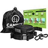 Hammock Straps - NEW XL Heavy Duty Tree Strap Design, 3x Stronger Loop System, Fail Resistant Stitching, 100% No Stretch, Combined 24FT Long, 40 Loops, 4000LBS Breaking Limit | 2 Carabiners by CAMPFY