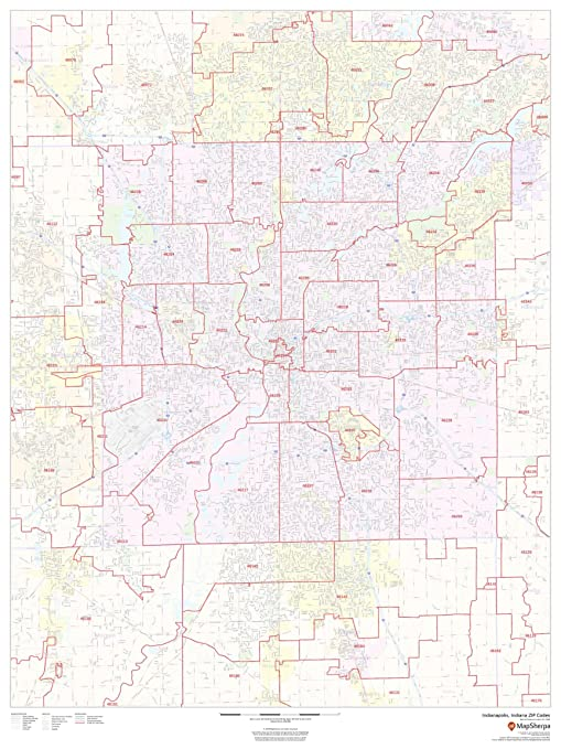 Amazon.com : Indianapolis, Indiana Zip Codes - 36