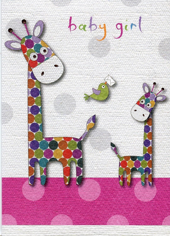 Baby Girl - Giraffes New Baby Girl Card Card Ovation