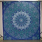 Indian Tapestries Wall Hanging Hippie Mandala Tapestry Bohemian Wall Tapestry Dorm Decor Bedding Beach Blanket Throw 90 X 90 Inches