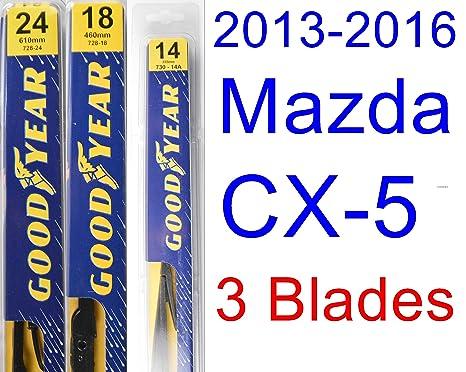 Juego de limpiaparabrisas de repuesto para Mazda CX-5 2013 – 2016, limpiaparabrisas Goodyear